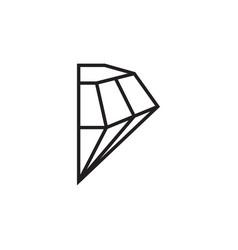 Half diamond precious gem graphic design template vector
