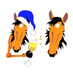 Horse Christmas vector