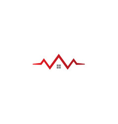 House realty sign company logo vector