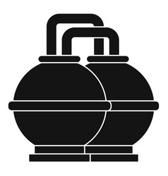 Industrial tanks for petrol and oil icon vector