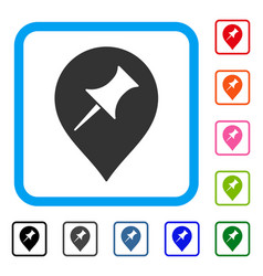 interest pin marker framed icon vector image