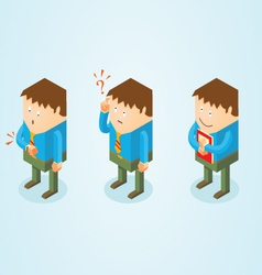 Isometric white collar worker vector