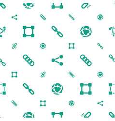 link icons pattern seamless white background vector image