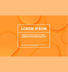 minimal orange background for presentation vector image