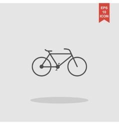 Minimalistic bicycle icon EPS 10 vector image