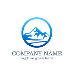 Mountain company logo vector