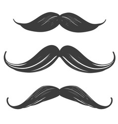 moustache set manhood humorous mask icon vector image