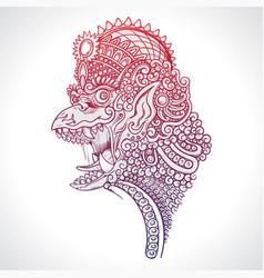 Mythology creature garuda vector