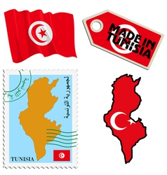national colours of Tunisia vector image
