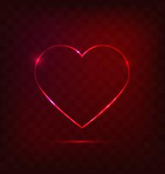 neon heart sign vector image