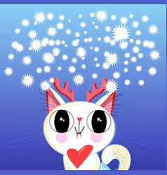 new year a funny cat vector image