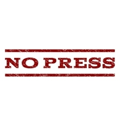No Press Watermark Stamp vector