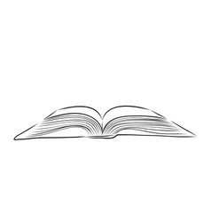 Open book hand draw vector