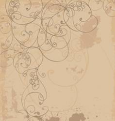 Organic swirl background vector