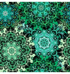 Oriental seamless pattern with eastern floral vector image vector image