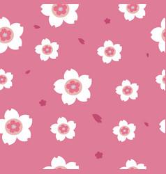 pink sakura seamless pattern background vector image