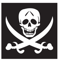 pirate black background flag vector image