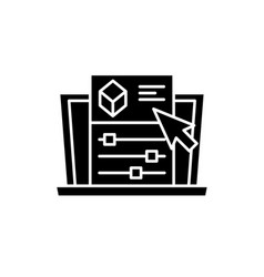 project settings black icon sign on vector image