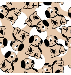 puppy background vector image