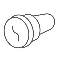 Pussy mastrubator thin line icon sex toy vector