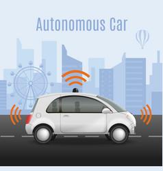 Radiocontrolled car road vector