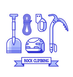 rock climbing icons set vector image