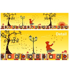 Seasons Collection Autumn vector image