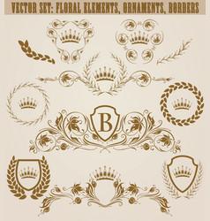 Set of golden monograms vector