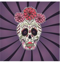sugar skull calavera catrina vector image