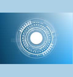 Technological interface connection platform vector