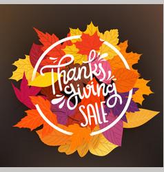 thanksgiving sale tag circle frame vector image