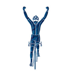 the winner bicycle riding vector image