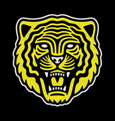 tiger retro logo vector image
