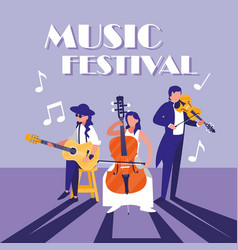 tropical orchestra playing instrument in concert vector image