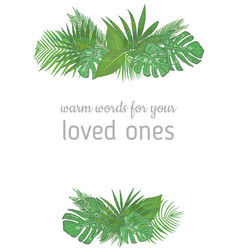 vertical foliage frame wedding invitation label vector image