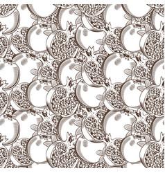vintage pomegranate seamless pattern vector image