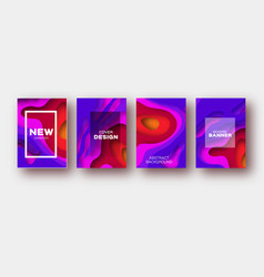 violet red paper cut wave shapes layered curve vector image