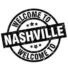 Welcome to nashville black stamp vector