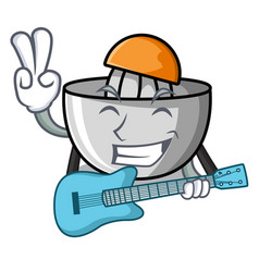 with guitar juicer mascot cartoon style vector image