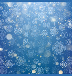 christmas glowing blue template eps 10 vector image