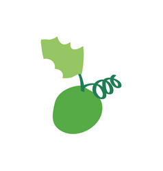christmas grape icon green vector image