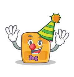 clown waffle character cartoon design vector image vector image