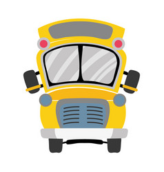 colorful school bus transportation to education vector image
