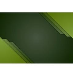 Dark green corporate material brochure design vector image