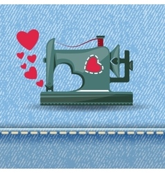From sewing machine with love vector