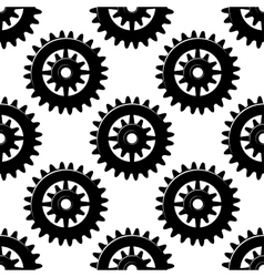 Machine gears and pinions seamless pattern vector image vector image