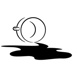 spilled coffee eps10 vector image