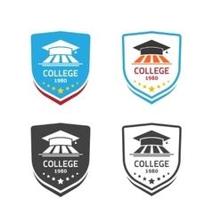 University emblem concept of school crest vector image