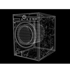 Washing machine simbol vector