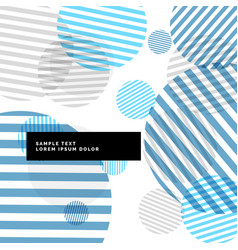 abstract stripes circles background with blue vector image
